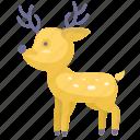 animal, cartoon animal, cartoon deer, deer icon