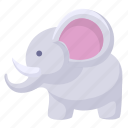 animal, cartoon elephant, elephant icon