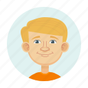 avatars, blonde, boy, child icon