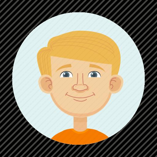 avatar, blonde, boy, child icon