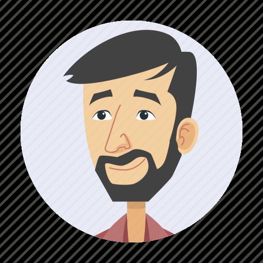 avatar, bearded man, eccentric, man icon