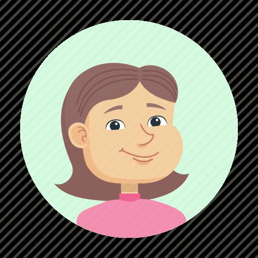 avatar, child, girl, petite icon