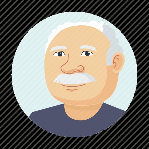 avatar, granddad, grandfather, old man icon