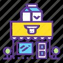 building, city, diary, market, milk, shop, shopping icon
