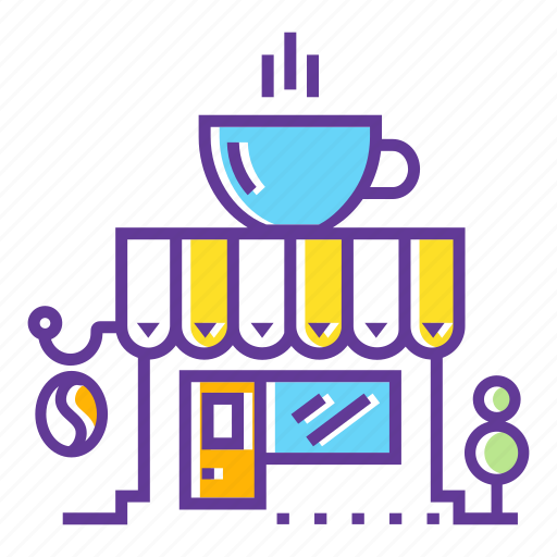 building, cafe, cafeteria, city, coffee, coffee cafe, restaurant icon