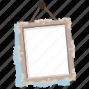 cartoon frame, hanging frame, photo frame, picture frame, portrait frame icon