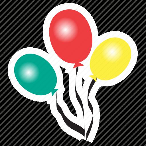 baloons, birthday, celebration, invitation, party, spring icon