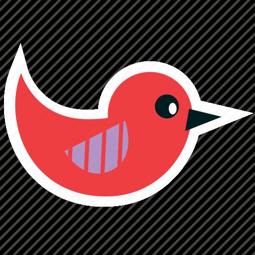 animals, bird, cartoon, fly, kids, party, red icon