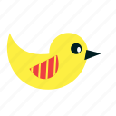 animal, bird, easter, fly, spring, yellow icon