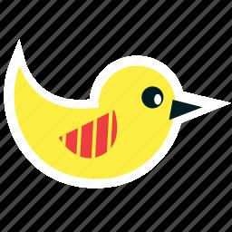 animal, bird, easter, fly, spring, yellow icon