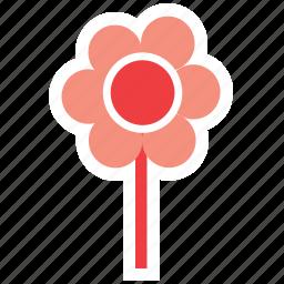 cartoon, flower, garden, nature, party, red, spring icon