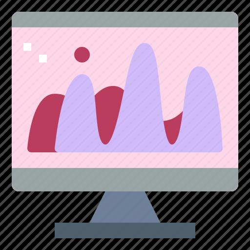 colour, computer, monitor, technology icon