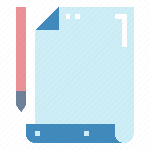 document, paper, pencil, sheet icon