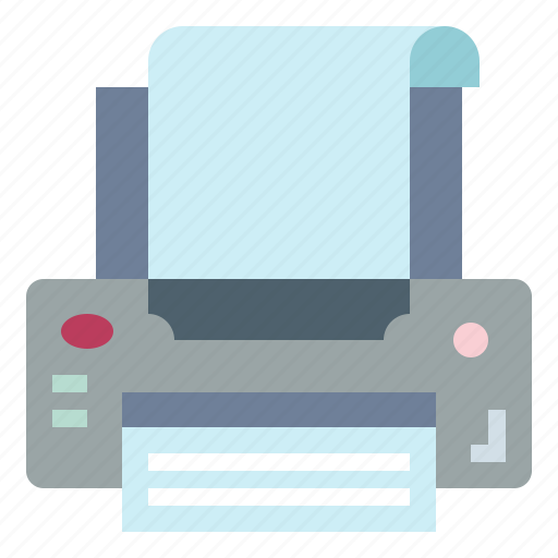 ink, paper, printer, technology icon