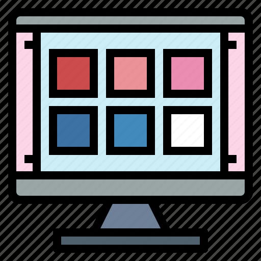 colour, design, graphic, grid, tool icon