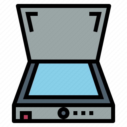office, paper, scanner, technology icon