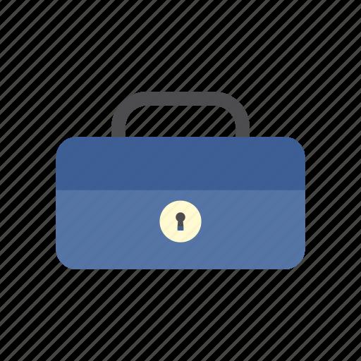 cash box, finance, locked, money, saving, secure, storage icon