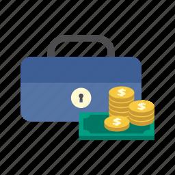 cash box, dollar, finance, money, saving, secure, storage icon