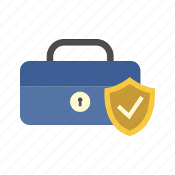 cash box, finance, money, protection shield, saving, secure, storage icon