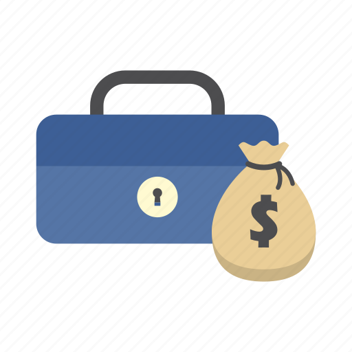 cash box, finance, money, money bag, saving, secure, storage icon