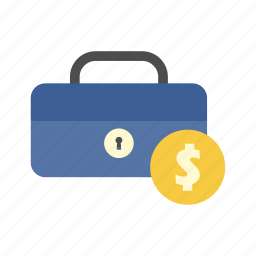 cash box, dollar, finance, money, saving, secure, storage icon