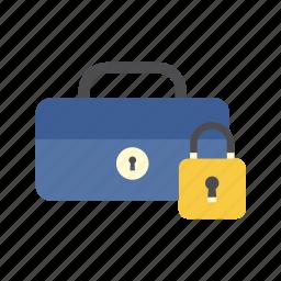 cash box, finance, money, padlock, saving, secure, storage icon