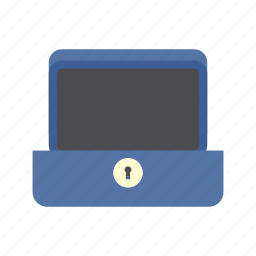 cash box, empty, finance, money, saving, secure, storage icon