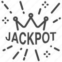 bet, casino, gamble, gambling, jackpot, slot machine, win icon