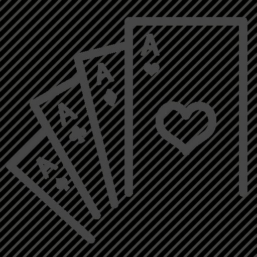 baccarat, blackjack, cards, casino, gamble, game, poker icon