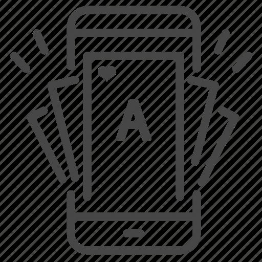 bet, casino, gamble, gambling, mobile, online icon