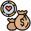 casino, chip, currency, exchange, money icon