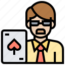 bet, casino, gambling, player, poker icon