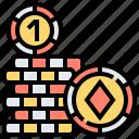 bet, casino, chip, gambling, poker icon