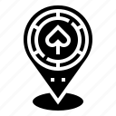 casino, gps, location, navigation, target icon