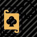 card, casino, clubs, gambling, poker icon