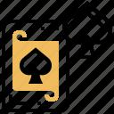 poker, casino, card, gambling, spade icon
