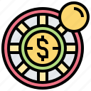 casino, gambling, game, roulette, wheel