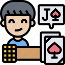 blackjack, card, game, counting, betting