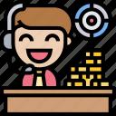 cashiers, desk, lobby, money, operator