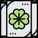 clover, leaf, card, game, lucky