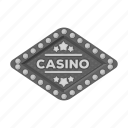 card, casino, entrance, gambling, poker, roulette, signboard icon
