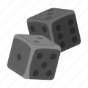 casino, combination, dice, excitement, gambling, game, number icon