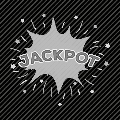casino, gambling, inscription, jackpot, luck, poker, winning icon