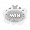 casino, gambling, plate, prize, win, winner icon