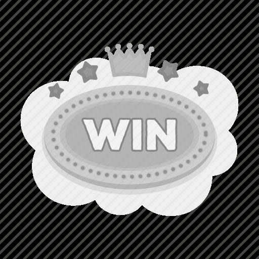casino, gambling, plate, prize, win, winner icon