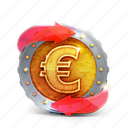 arrow, badge, casino, coin, euro, prize icon
