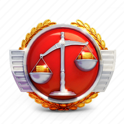 badge, casino, medal, prize, scales icon