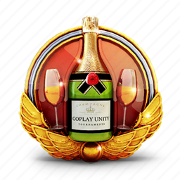badge, champagne, drink, glass, medal, prize icon