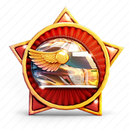 badge, helmet, medal, prize, star, wings icon