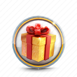 badge, box, casino, gold, prize icon